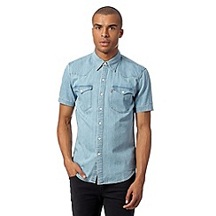 Levi's - Light blue denim western shirt
