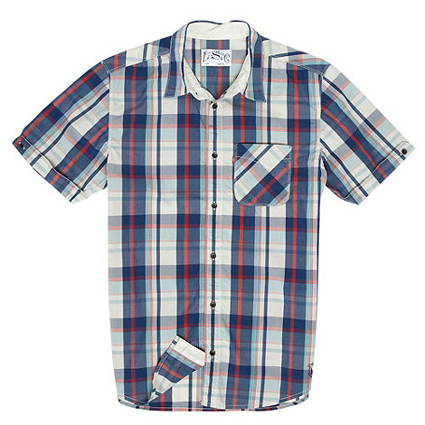 Levi+s - blue large checked shirt - Small