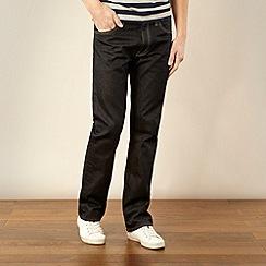Levi's - 506&#8482 rigid black straight leg jeans