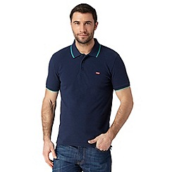 Levi's - Navy plain contrast trim polo shirt