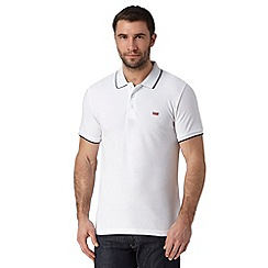 Levi's - White logo applique polo shirt
