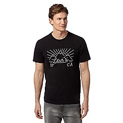 Levi's - Black mountain print t-shirt