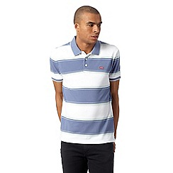 Levi's - Blue striped pique polo shirt