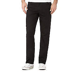 Wrangler - Texas black stretch straight fit jeans