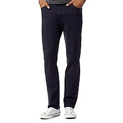 Wrangler - Texas navy raw twill straight leg jeans