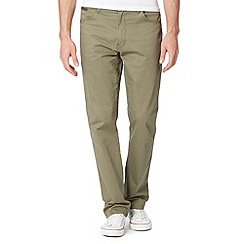 Wrangler - Texas khaki zip fly regular fit jeans