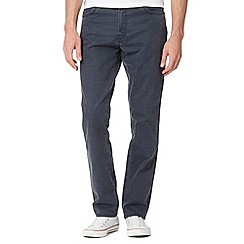 Wrangler - Texas navy zip fly rinse wash regular fit jeans