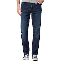 Wrangler - Texas stretch more blues navy straight leg jeans