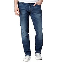 Wrangler - Greensboro from here mid blue mid wash jeans