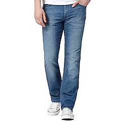 Wrangler - Arizona 'CoolMax' son breeze blue mid wash jeans