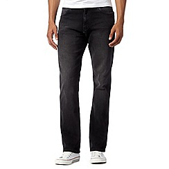 Wrangler - Arizona near black mid wash straight leg jeans