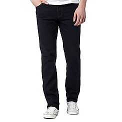 Wrangler - Texas dark blue relaxed fit rinse wash jeans