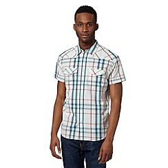 Wrangler - White western highlighted check shirt