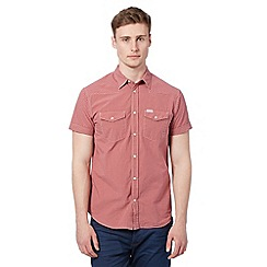 Wrangler - Big and tall red western mini checked short sleeved shirt