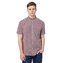 Wrangler - Big and tall red block checked short sleeved shirt