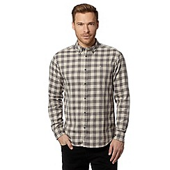 Wrangler - Grey gingham checked shirt