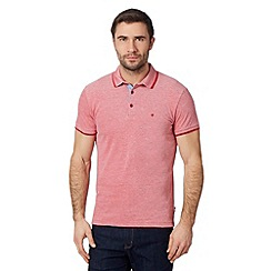 Wrangler - Big and tall red tipped pique polo shirt