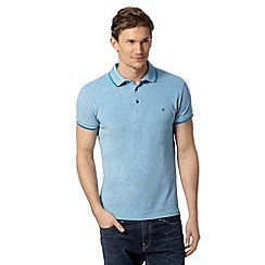 Wrangler - Blue tipped pique polo shirt