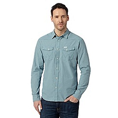 Wrangler - Blue western checked long sleeved shirt