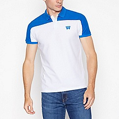 Wrangler - White 'Denim Brand' print t-shirt