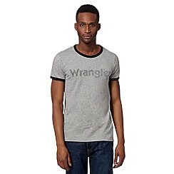 Wrangler - Big and tall grey classic logo t-shirt
