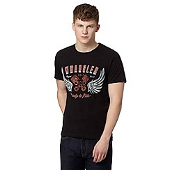 Wrangler - Black 'Ready to Ride' print t-shirt
