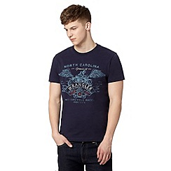 Wrangler - Big and tall navy 'Motor' print t-shirt