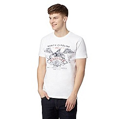 Wrangler - Big and tall white 'Motor' print t-shirt