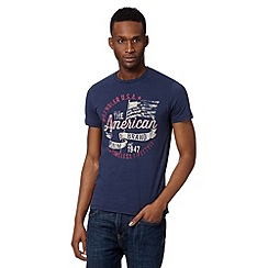 Wrangler - Big and tall navy 'American Brand' t-shirt