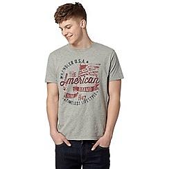 Wrangler - Grey 'American Brand' print t-shirt