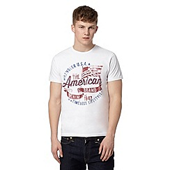 Wrangler - Big and tall white 'American Brand' print t-shirt