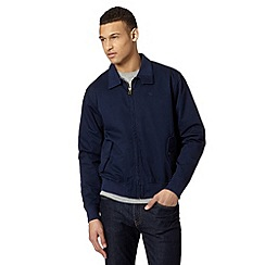Wrangler - Big and tall navy harrington bomber jacket