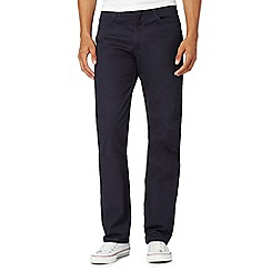 Lee - Big and tall navy twill straight leg trousers