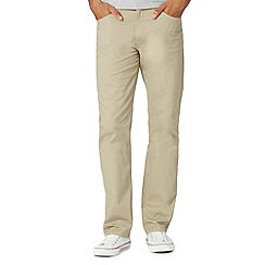 Lee - Big and tall natural twill straight leg trousers
