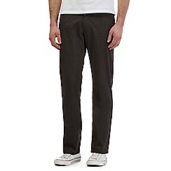 Lee - Dark grey twill straight leg trousers
