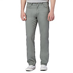 Lee - Big and tall green straight fit stretch jeans