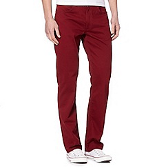 Lee - Dark red sateen trousers
