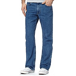 Lee - Big and tall Brooklyn mid blue rinse straight fit jeans