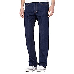 Lee - Big and tall Brooklyn blue plain rinse straight fit jeans