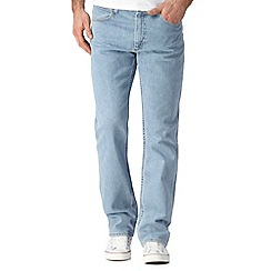Lee - Big and tall Brooklyn light blue vintage wash straight leg stretch jeans