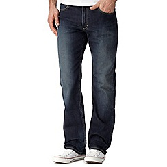 Lee - Big and tall Brooklyn dark blue rinsed straight leg jeans