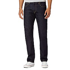 Lee - Dark blue wash straight fit jeans