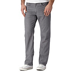 Lee - Big and tall Brooklyn grey rinsed straight leg jeans