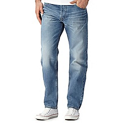 Lee - Chase light blue vintage wash relaxed fit jeans
