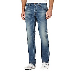 Lee - Daren back yard warn vintage wash straight leg jeans