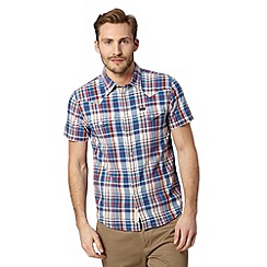 Lee - Blue checked short sleeve shirt
