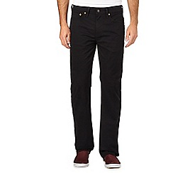 Levi's - Black straight regular fit chinos