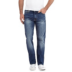 Levi's - 504&#8482 vintage wash dark blue straight fit jeans