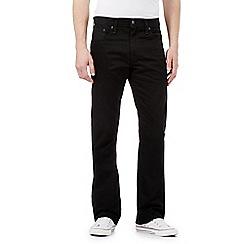 Levi's - 527 black rinse bootcut jeans
