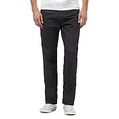 Levi's - 504 raw grey straight leg jeans